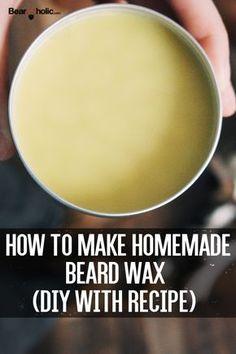 How To Make Homemade Beard Wax (DIY with Recipes) - Beardoholic - stella Homemade Beard Oil, Diy Beard Oil, Beard Wax, Man Beard, Beard Hair Growth, Beard Tips, Beard Ideas, Mustache Wax, Handlebar Mustache