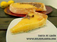 Tarta de limón  Cremosa y deliciosa receta ¡Anímate! ¡También en video!  http://www.golosolandia.com/2014/11/tarta-de-limon.html