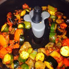 Ratatouille in actifry. Vegetable Recipes, Vegetarian Recipes, Healthy Recipes, Diabetic Recipes, Healthy Eats, Keto Recipes, Actifry Recipes Slimming World, Tefal Actifry, Slow Cooker Recipes