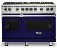 6.1 Cu. Ft. Total Capacity/ 4.0 Cu.Ft. Right Oven Capacity/ 2.1 Cu. Ft. Left Oven Capacity/ VSH Pro Sealed Burner System/ VariSimmer Setting/ Porcelainized Cooking Surface/ SureSpark Ignition System/ Gourmet-Glo Gas Infrared Broiler/ TruGlide Full Extension Rack/ ProFlow Convection Baffle/ 18,500 BTU Front Right Burner/ 15,000 BTUs All Other Burners/ SoftLit LED Lights/ GentleClose Door/ Six Functions/ Cobalt Blue Finish