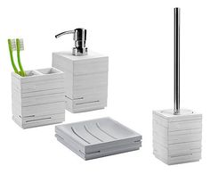 Set accessori bagno in resina h107131 set accessori bagno pinterest