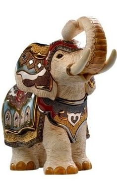 India Elephant Figurine White