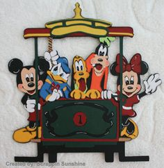 DISNEY - Main Street Trolley w/ Gang Paper Piecing for Scrapbook Pages - SSFF