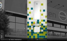 Idea para toilette #bathroom #colors #mirror #tiles