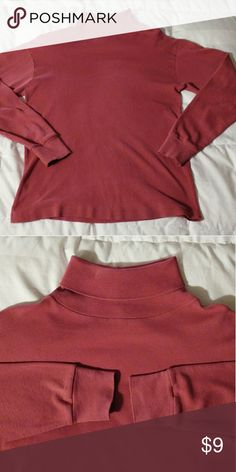 Raspberry Pink Milano Sport Turtleneck Sz Medium All cotton lovely raspberry turtleneck. Collar and cuffs in good condition. Great under a sweater. Milano Sport Tops Tees - Long Sleeve