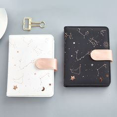 JUGAL Constellations Notebook Pu Cover Schedule Book Diary Weekly Planner Notebook School Office Supplies Kawaii Stationery-in Notebooks from Office & School Supplies on Notebook Apple, Pocket Notebook, Diy Notebook, Rose Gold Notebook, Agenda Planner, Monthly Planner, Binder Planner, Cute Planner, College Planner