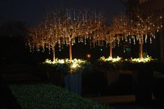 blog post on using glass ornaments outside in Christmas decor. Several beautiful examples.