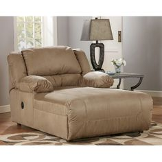 Signature Design by Ashley Rudy Microfiber Chaise Recliner