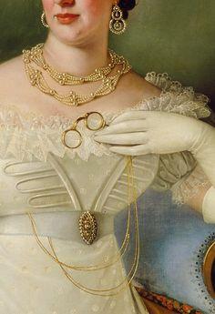Giuseppe Tominz,   Countess Cecilia d'Auersperg     1822   detail