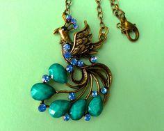 $17.00.  Pretty peacock necklace.  So dramatic.  Love.