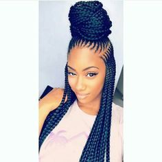 Hi ladies. Ket braids hairstyles are also among the trendy braids ladies are rocking this year. They will make you look stunning and adorable, it is also possible to transform your box braids into ket braid Black Girl Braids, Braids For Black Hair, Girls Braids, Box Braids Hairstyles, My Hairstyle, Hairstyles 2018, Hairstyles Pictures, Black Girls Hairstyles, African Hairstyles