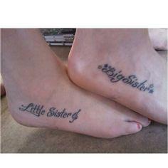Sister tattoos.
