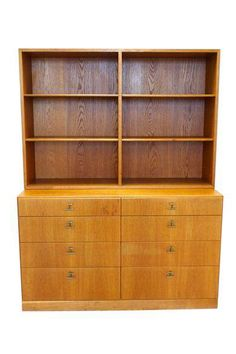 Mid-Century Børge Mogensen Bookcase Hutch on Chairish.com