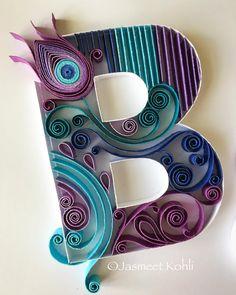 Paper Quilled monogram letter #peacock JasmeetKohli.Etsy.com#paperquilling #quilling #paperart #handcrafted #etsy #handmade #buyhandmade #instagood #instaart #paperedge #papercraft #homedecor #etsyshop #gift #lovehandmade #paperartist #paperwork #wallart #papertypography #imadethis #makersgonnamake #diy #handmadefont #typographyinspired #typespire #typostrate #goodtype