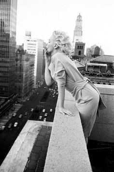 Marilyn Monroe on the rooftop of the Ambassador Hotel in New York City, 1955