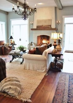 10 Rustic Modern Farmhouse Living Room Decor Ideas