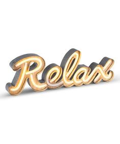 Love this 'Relax' LED Neon Sign on #zulily! #zulilyfinds