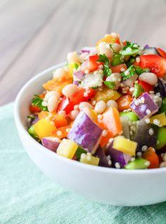 #Vegan Quinoa and Rainbow Pepper Salad
