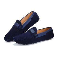 Mocassins pour l'été en cuir véritable Loafer Sneakers, Sneaker Boots, Loafers Men, Mens Fashion Shoes, Men S Shoes, Top Shoes, Clarks Shoes Mens, Mens Canvas Shoes, Fresh Shoes