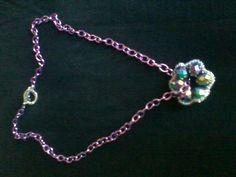 Pink chain and swarovski beads