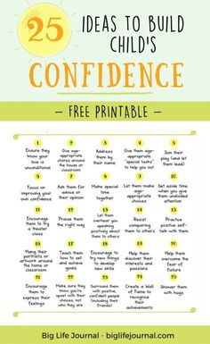 25 Ways for Parents and Teachers To Build Child's Confidence – Big Life Journal #ParentingTips