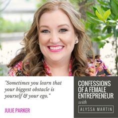 Authentic business building with Julie Parker on the Confessions of a Female Entrepreneur podcast #confessionspodcast