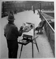 Le peintre du Pont des Arts, Doisneau