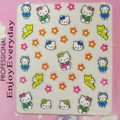 Pretty and Cute Hello Kitty Nail Art Nail Sticker Nail decals
