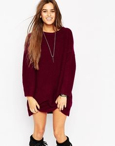Oversized Jumper Dress In Chunky Knit