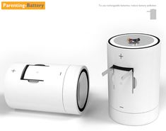 Parenting-Battery – Rechargeable Battery by Fan Shizhong - It basically houses two pencil cells that can be collectively used as one battery. Moreover you can directly recharge the cell thanks to the embedded socket plug. | Yanko Design