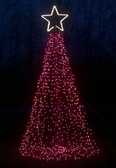 Outdoor Christmas Tree Lights Pole | this tree is a simple 10 tree with lights that go straight to a base ...