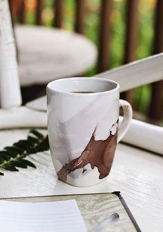 Poppytalk: DIY | Watercolor Mug