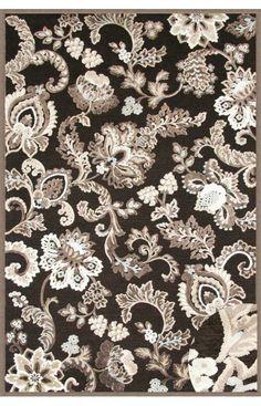 Abacasa 6036 5x8 Napa Arlington Black/Grey/Ivory Area Rug