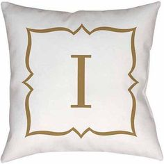 Thumbprintz Gold Script Monogram Decorative Pillows