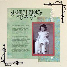 Family History - Scrapbook.com