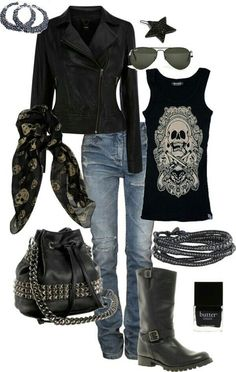 Biker Outfit Ideas Collection pin on my style clothing and accessories Biker Outfit Ideas. Here is Biker Outfit Ideas Collection for you. Biker Outfit Ideas biker chick fashion for the daredevil girls. Biker Chick Outfit, Motorcycle Outfit, Biker Chick Style, Rock Chick Style, Biker Chick Costume, Motorcycle Tips, Motorcycle Style, Cozy Fall Outfits, Casual Outfits
