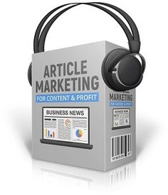 Article Marketing For Content & Profit audio book comes with 3 audio files, graphics, and license pack. You will learn how to use articles for your website and generate traffic. Business News, Business Marketing, Audio Books, Articles, Content, Digital