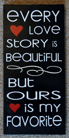 Decorative Wooden Sign  LOVE STORY by JennPowellCreations on Etsy, $24.00