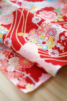 FABRIC - pink flower by karaku*, via Flickr  Karaku rocks! I have this one and it's so so lovely.