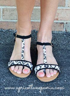 Aztec Flat Sandals