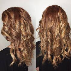 Blonde Auburn Balayage