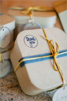 cute bridesmaid gift ideas #navywedding #yellowwedding #weddingchicks http://www.weddingchicks.com/2013/12/26/navy-and-yellow-wedding-2/