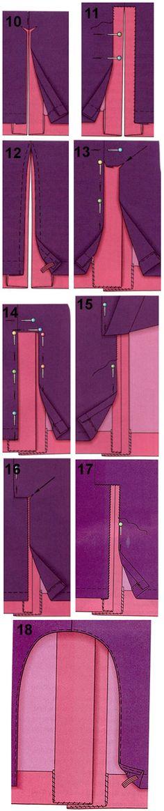 Как пришить подкладку к юбке и юбке-брюкам Lining skirts with back vent