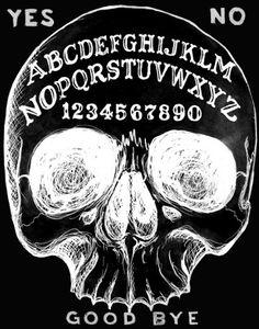Ouija Skull Archival Photo Print by Shayne of the Dead
