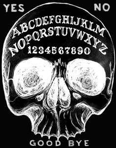Ouija Skull archival print 8x10 by ShayneoftheDead