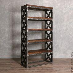 Купить Стеллаж BRISTOL в стиле LOFT. - черный, Мебель, стеллаж, этажерка, лофт, мебель лофт