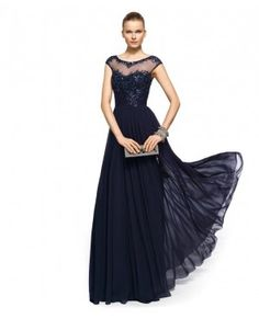 Fabric:Chiffon Neckline:Sweetheart Color:Navy Blue Occasion:Prom party