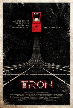 tron alternative movie poster - try our lists of best Pinterest alternative movie posters at our blog: http://thecautioustrain.blogspot.ie/
