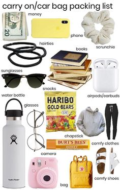 Travel Packing Checklist, Travel Bag Essentials, Road Trip Packing, Travel Necessities, Road Trip Essentials, Road Trip Hacks, Travelling Tips, Packing Tips, Vacation Packing