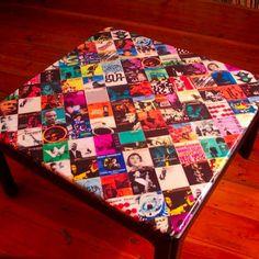 Funky decoupage table